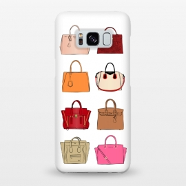 Galaxy S8+  Designer Bags by Martina (fashion,illustration,bags,handbag,designer,luxury,modern,for her,boss,feminine,collection,set,prada,chanel,dior,celine,hermes,birkin,miss dior,high fashion,balenciaga)