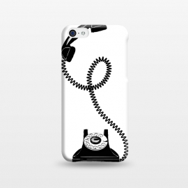 iPhone 5C  Black Vintage Phone by Martina