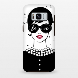Galaxy S8 plus  Love Girl by  (fashion,illustration,woman,girl,boss,lady,feminine,female,modern,elegant,sunglasses,love,typography,quote,retro,vintage,face,lips)