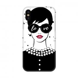 iPhone X  Love Girl by  (fashion,illustration,woman,girl,boss,lady,feminine,female,modern,elegant,sunglasses,love,typography,quote,retro,vintage,face,lips)