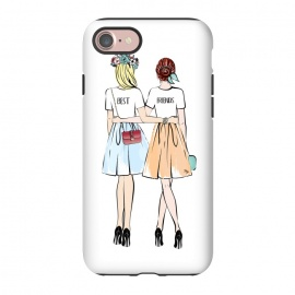 iPhone 8/7  Best friends by Martina (bff,besties,best friends,girlfriends,girls,women,females,people,illustration,modern,cute,girly,stylish,for her,for friends)