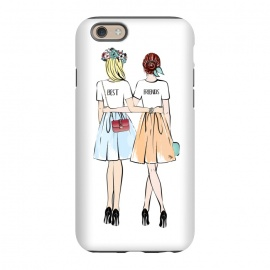 iPhone 6/6s  Best friends by Martina (bff,besties,best friends,girlfriends,girls,women,females,people,illustration,modern,cute,girly,stylish,for her,for friends)