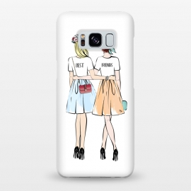 Galaxy S8+  Best friends by Martina (bff,besties,best friends,girlfriends,girls,women,females,people,illustration,modern,cute,girly,stylish,for her,for friends)