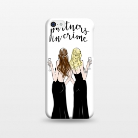iPhone 5C  Wine friends by Martina (wine,drink,partners,bff,besties,best friends,girlfriends,friends,girls,girly,stylish,modern,cute,girlboss,illustration,women,celebrtion,quote,typography,crime,cheers)
