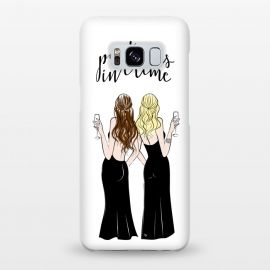 Galaxy S8+  Wine friends by Martina (wine,drink,partners,bff,besties,best friends,girlfriends,friends,girls,girly,stylish,modern,cute,girlboss,illustration,women,celebrtion,quote,typography,crime,cheers)