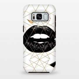 Galaxy S8 plus  GOLD LIPS by  (GOLD,LIPS,TRIANGLE,BLACK,WHITE)