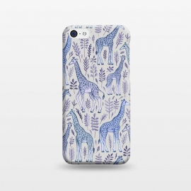 iPhone 5C  Little Giraffes in Blue, Purple and Grey by Micklyn Le Feuvre