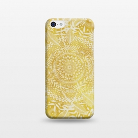 Medallion Pattern in Mustard and Cream by Micklyn Le Feuvre (mustard,golden,yellow,doodle,mandala,medallion,boho,bohemian,micklyn,drawing,diamonds,palm,leaves,summer,tropical,geometric,circles,circle,shapes,ink)