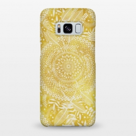 Galaxy S8+  Medallion Pattern in Mustard and Cream by Micklyn Le Feuvre
