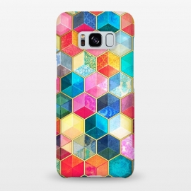 Galaxy S8+  Crystal Bohemian Honeycomb Cubes by Micklyn Le Feuvre