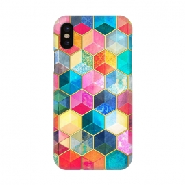 iPhone X  Crystal Bohemian Honeycomb Cubes by Micklyn Le Feuvre
