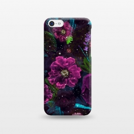 iPhone 5C  Whimsical Watercolor night garden floral hand paint  by InovArts