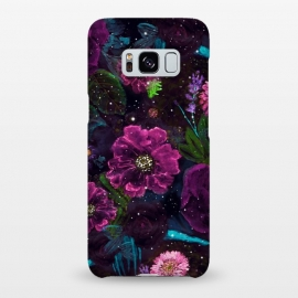 Galaxy S8+  Whimsical Watercolor night garden floral hand paint  by InovArts