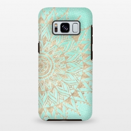 Galaxy S8 plus  Mint and gold mandala  by