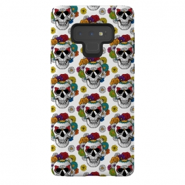 Galaxy Note 9  Curly Sugar Skull Pattern by