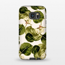 Galaxy S7  Botany Leaf Pattern  by Zala Farah (botanic,botany,botanical,green,flower,floral,nature,pattern,tropical,exotic,nature art,flower print)