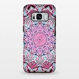 Galaxy S8 plus  Berry Pink Detailed Mandala by  (magenta,mandala,medallion,boho,bohemian,pink,aqua,micklyn,detailed,doodle,geometric)