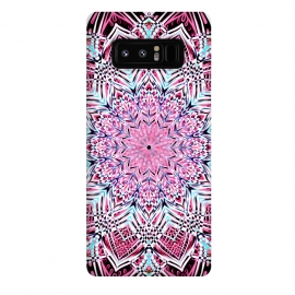 Galaxy Note 8  Berry Pink Detailed Mandala by Micklyn Le Feuvre