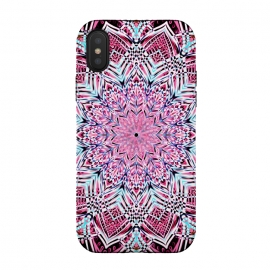 iPhone Xs / X  Berry Pink Detailed Mandala by Micklyn Le Feuvre