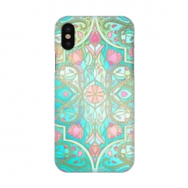 iPhone X  Floral Moroccan in Spring Pastels by Micklyn Le Feuvre