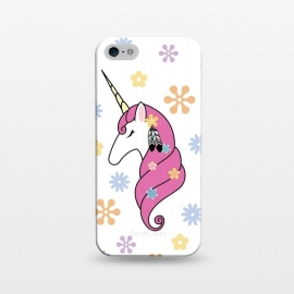 iPhone 5/5E/5s  Hippie Unicorn by Laura Nagel