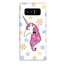Galaxy Note 8  Hippie Unicorn by Laura Nagel