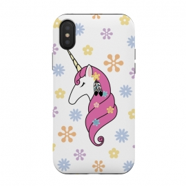 iPhone Xs / X  Hippie Unicorn by Laura Nagel