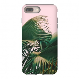 Palm Love by Uma Prabhakar Gokhale (digital manipulation, paint filter, palm, palm leaves, palms, tropical, nature, botanical, leaves, blush, island, exotic, travel)