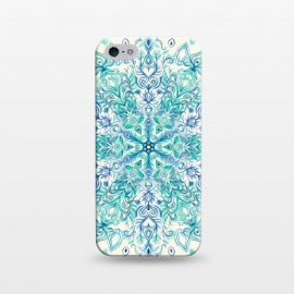 iPhone 5/5E/5s  Peppermint Snowflake on Cream  by Micklyn Le Feuvre