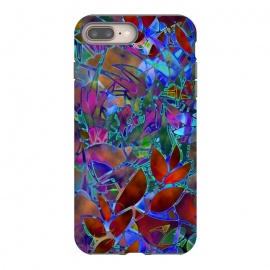 Floral Abstract Stained Glass G174 by Medusa GraphicArt