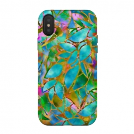 Floral Abstract Stained Glass G265  by Medusa GraphicArt