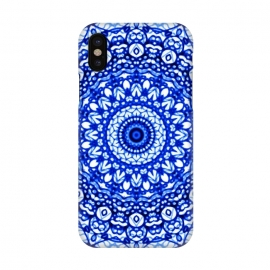 iPhone Xs / X  Blue Mandala Mehndi Style G403  by Medusa GraphicArt