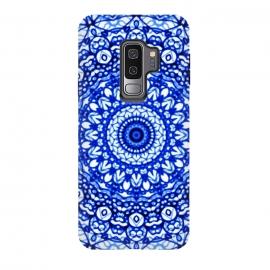 Galaxy S9 plus  Blue Mandala Mehndi Style G403  by