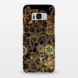 Galaxy S8+  Floral Doodle Gold G523 by Medusa GraphicArt