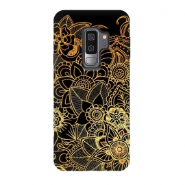 Galaxy S9 plus  Floral Doodle Gold G523 by