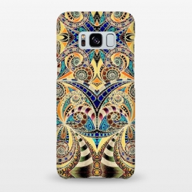 Galaxy S8+  Drawing Floral Zentangle G240 by Medusa GraphicArt