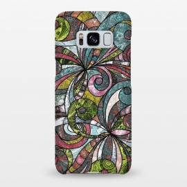 Galaxy S8+  Drawing Floral Zentangle G203 by Medusa GraphicArt