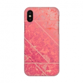 iPhone X  Pink Marble Texture G281 by
