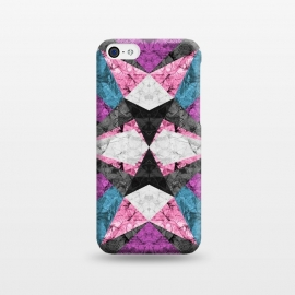 iPhone 5C  Marble Geometric Background G438 by Medusa GraphicArt