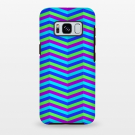 Galaxy S8+  BLUE TRIANGLE LINES PATTERN by MALLIKA