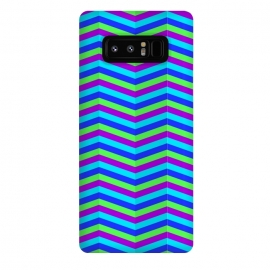 Galaxy Note 8  BLUE TRIANGLE LINES PATTERN by MALLIKA