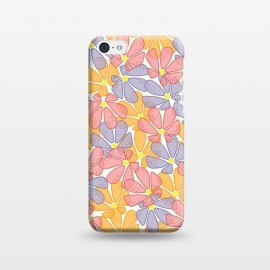 iPhone 5C  Flutter Floral by TracyLucy Designs (FLORAL,COLORFUL,LAYER,NATURE,SUMMER,SPRING)