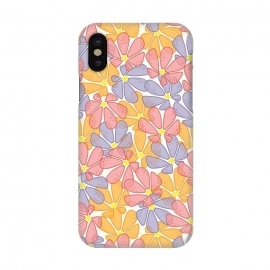 iPhone X  Flutter Floral by TracyLucy Designs