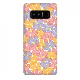 Galaxy Note 8  Flutter Floral by TracyLucy Designs (FLORAL,COLORFUL,LAYER,NATURE,SUMMER,SPRING)