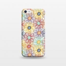 iPhone 5C  RAINBOW FLORAL by TracyLucy Designs (RAINBOW,FLORAL,COLORFUL ,HAPPY)
