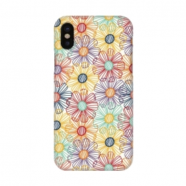 iPhone X  RAINBOW FLORAL by TracyLucy Designs (RAINBOW,FLORAL,COLORFUL ,HAPPY)