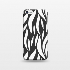 iPhone 5C  Brush Strokes White by ArtPrInk