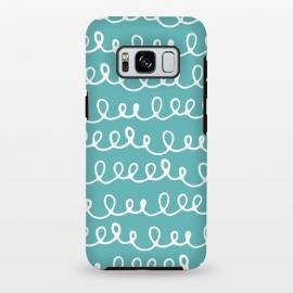 Galaxy S8 plus  Doodles Waves Aquamarine by