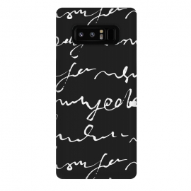 Galaxy Note 8  Doodles Letters Black by ArtPrInk