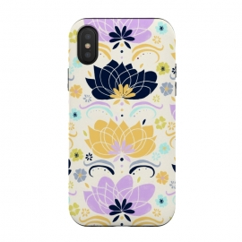 iPhone Xs / X  Navy & Pastel Floral  by Tigatiga